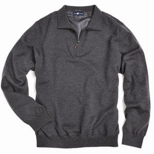 Chase Edward Men Italian Merino Wool Wind Sweater